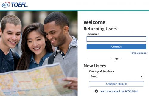 新TOEFL iBTログインサイト