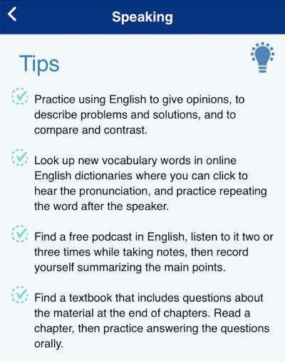 TOEFL Go! Speaking Tips