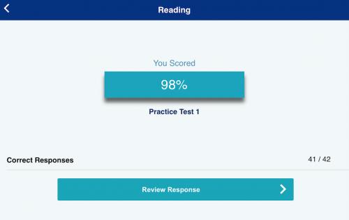 TOEFL Go! Reading有料問題結果