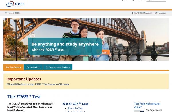 TOEFL site