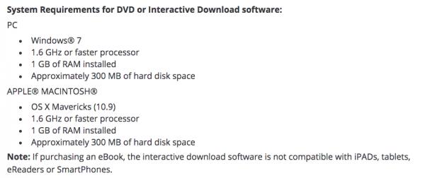 System Requirements for OG eBook