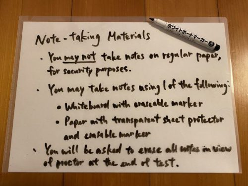 note-taking materials