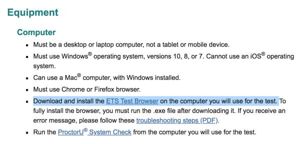 ETS Test Browser